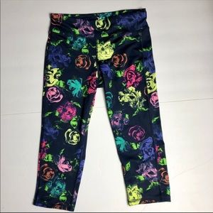 Old navy neon colorful floral active yoga pants